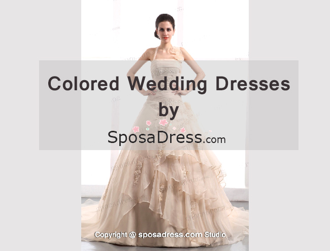 Colored Wedding Dresses by SposaDress