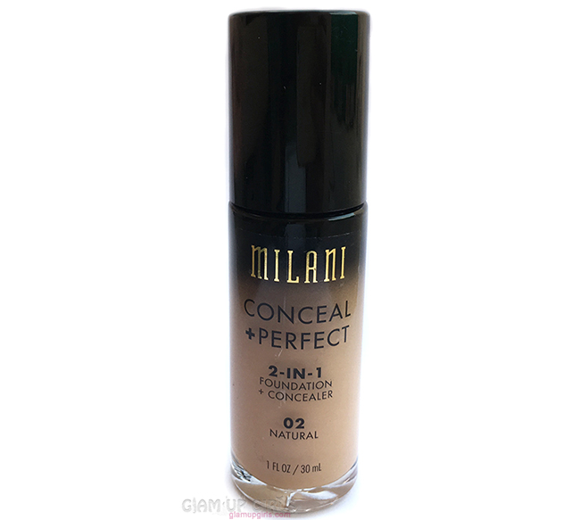 Milani Conceal + Perfect 2-In-1 Foundation + Concealer - Review and Swatches