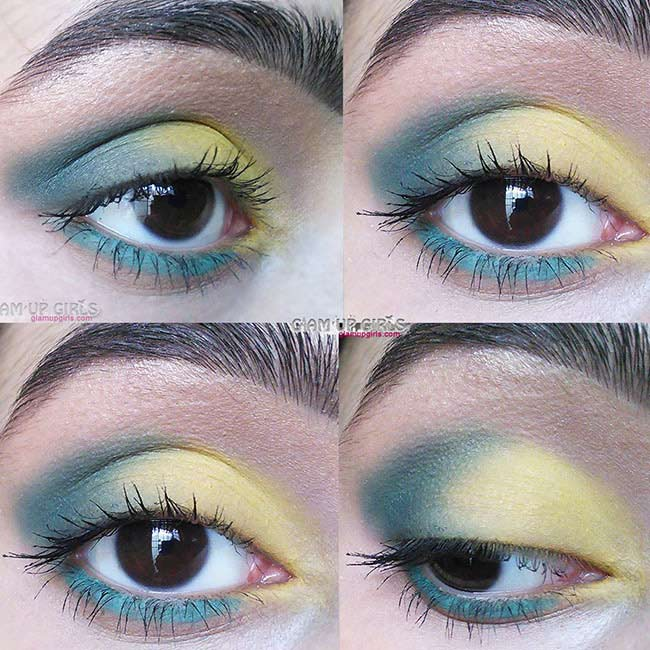 Summer Green and Yellow Eye Look - EOTD