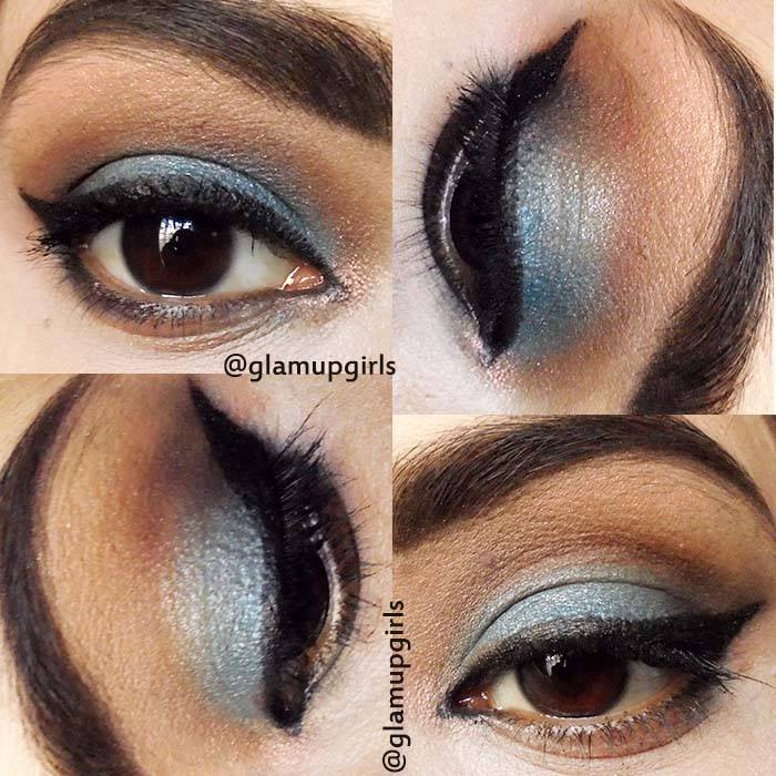Blue - Brown Vintage Eye Look - EOTD