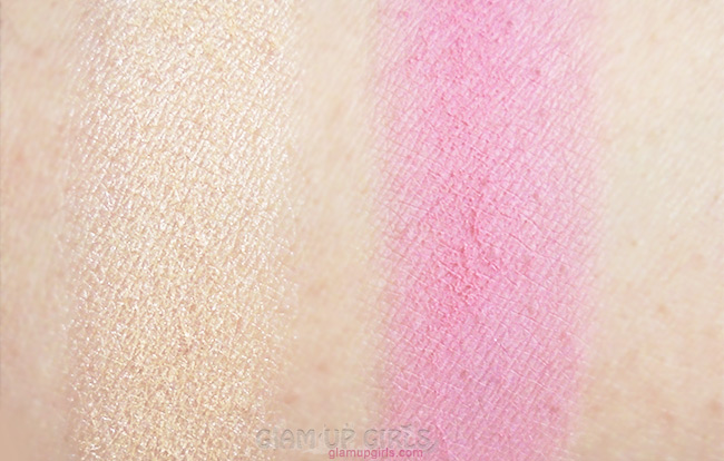 BH Cosmetics Floral Blush Duo in Daisy Swatch