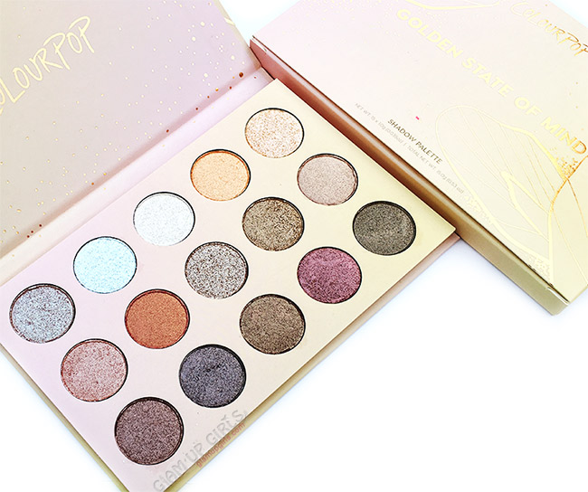 ColourPop Golden State of Mind Eyeshadow Palette Review and Swatches
