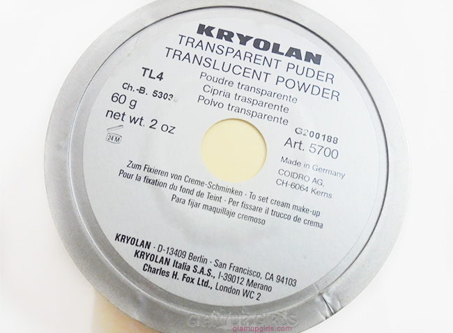 Kryolan Translucent Powder in TL4 is dupe for  Ben Naye Banana Powder