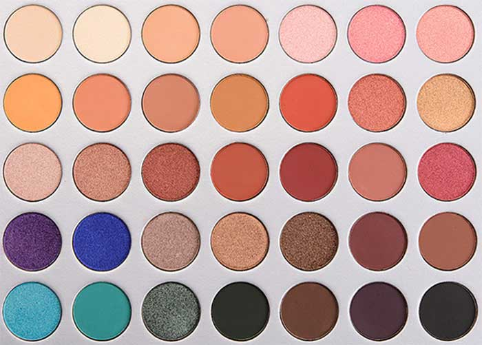 Morphe X Jaclyn Hill Eyeshadow Palette Close up