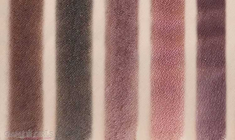 Swatches of W7 The Naughty Nine Eyeshadow Collection in Mid Summer Nights - Last six