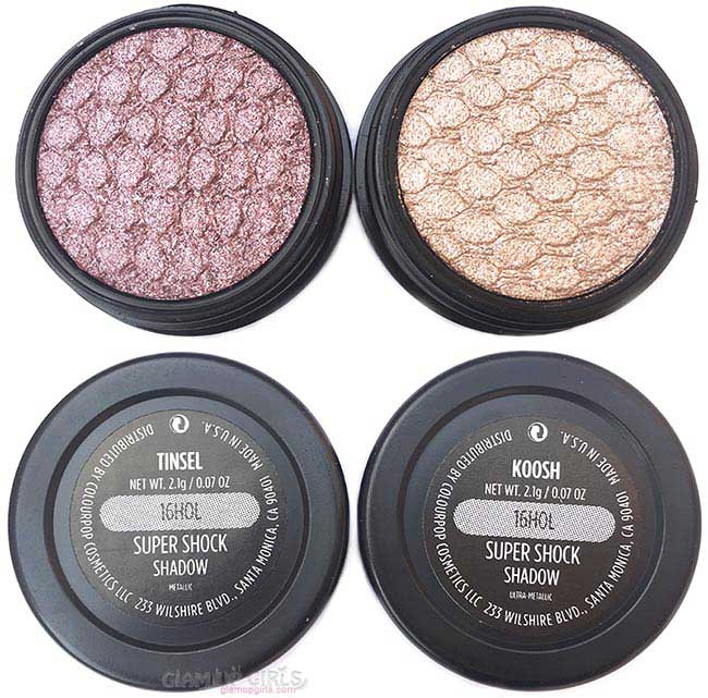 ColourPop Sweet Set Super Shock Shadow Tinsel and Koosh