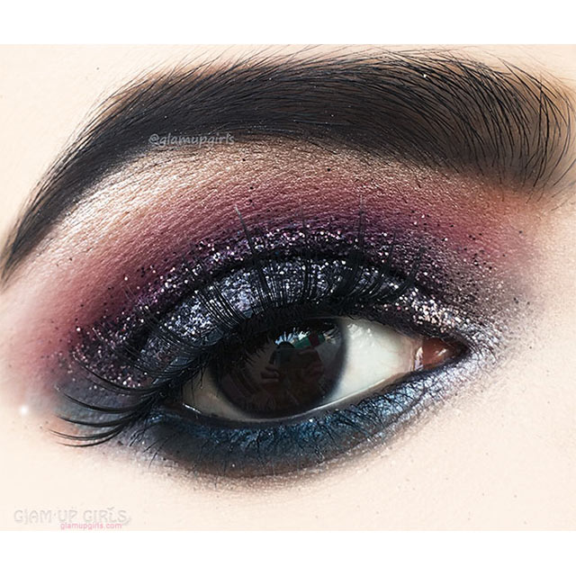 Black Smokey Glittery Festive Eye Makeup - EOTD