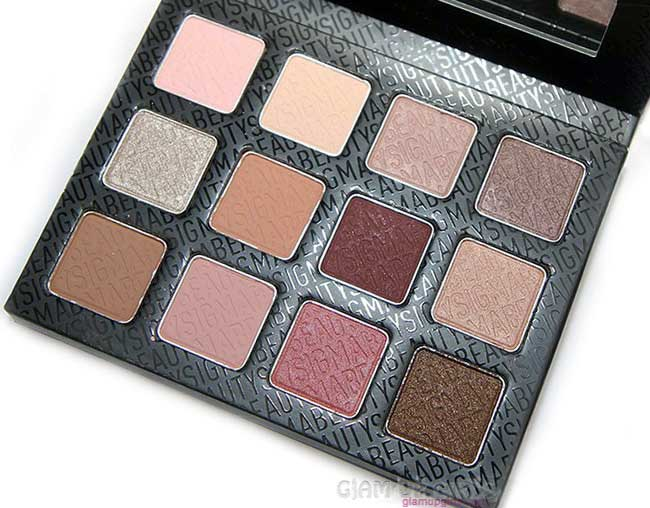 Sigma Warm Neutrals Eye Shadow Palette - Review and Swatches