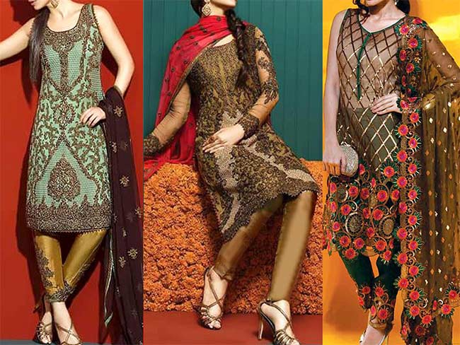 Chiffon suits for winters