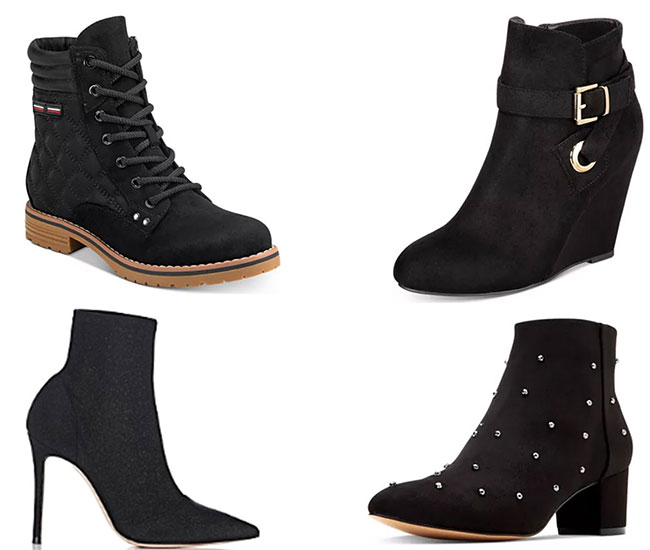 Stylish women black ankle boots for winter 2019