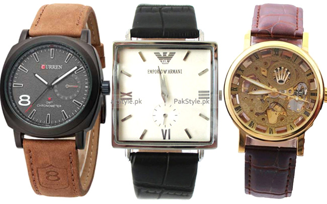 Leather strap watches for men and Women