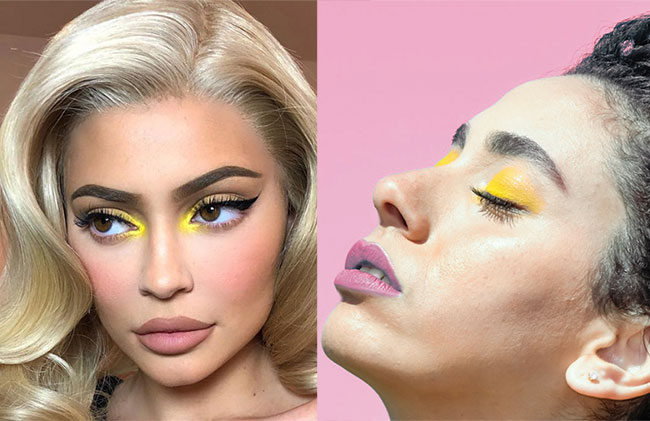 Pop of neon eyeshadow trend