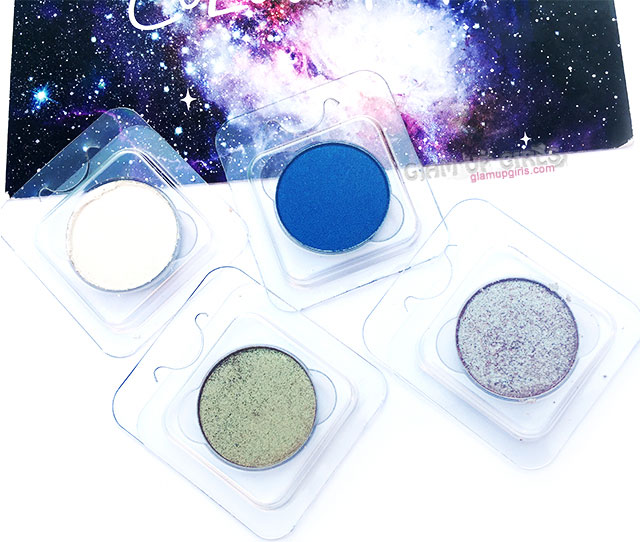 ColourPop Pressed Powder Shadows in Glass Bull, Two Piece, Tea Garden, Now and Zen