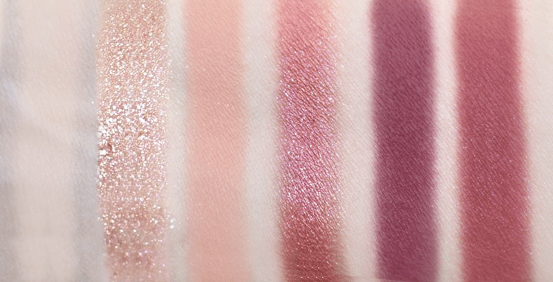 Huda Beauty New Nude Eyeshadow swatches in Bare, Crave, Play, Fantasy, Love Bite, Spanked
