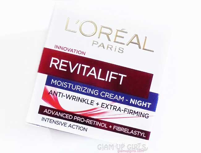 L'Oreal Revitalift Moisturizing Night Cream - Review