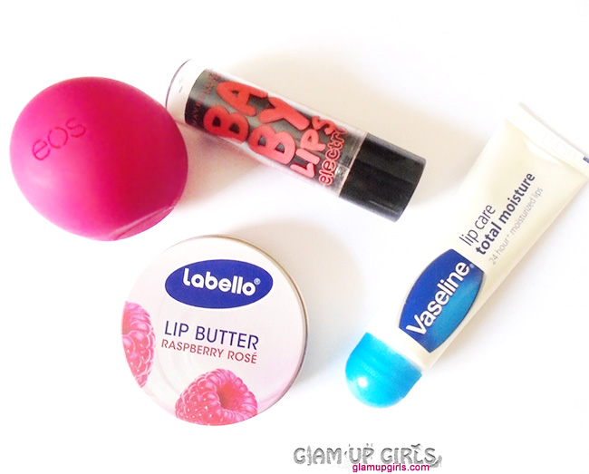 My Favorite Lip Balms Vaseline, EOS, Maybelline and Labello - Short Reviews