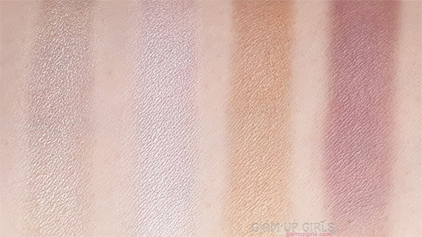 Swatches of L.A. Colors Sweet! 16 Color Eyeshadow Palette in Brave third line