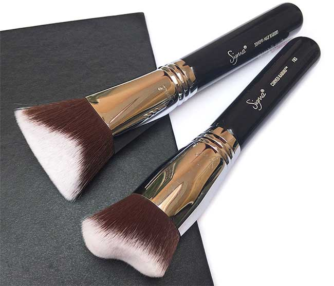 Sigma 3DHD Max and F83 Curved Kabuki Dimensional Face Brushes - Review