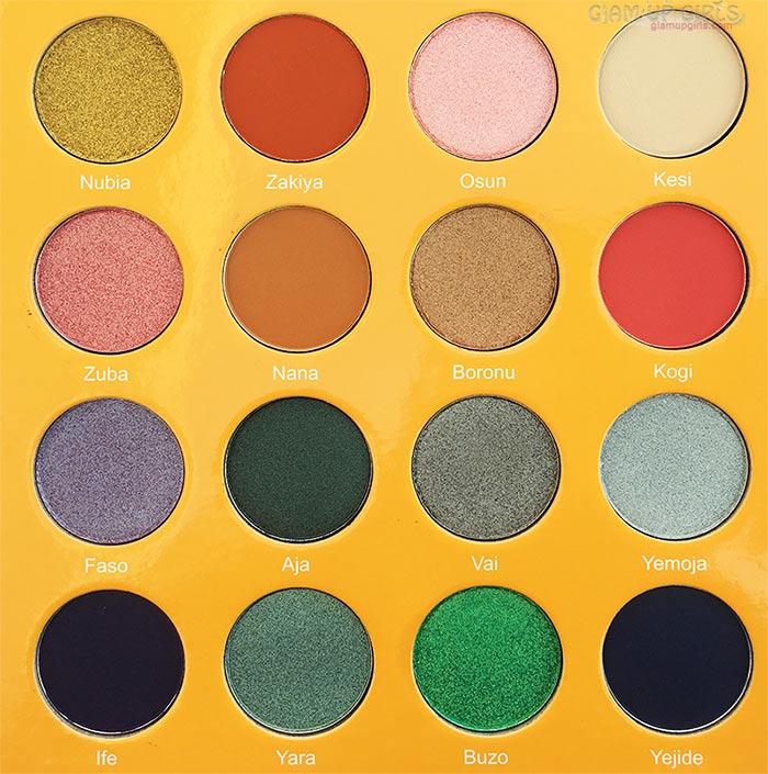 Close up of Juvia's Place The Magic Mini Eyeshadow Palette