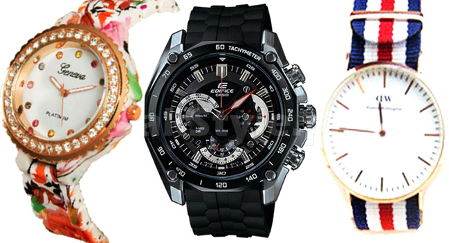 Nylon, silicon sports watches