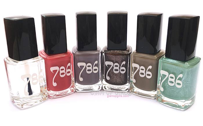 786 Cosmetics Halal Nail Enamel 5 colors and 1 top coat