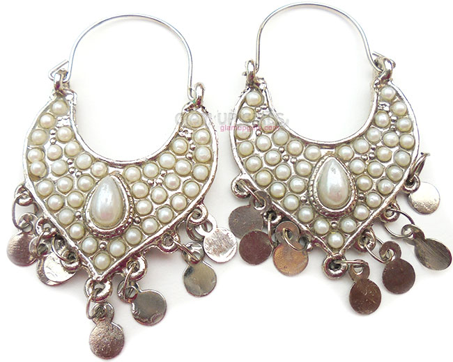Traditional Pearl Studded Earrings