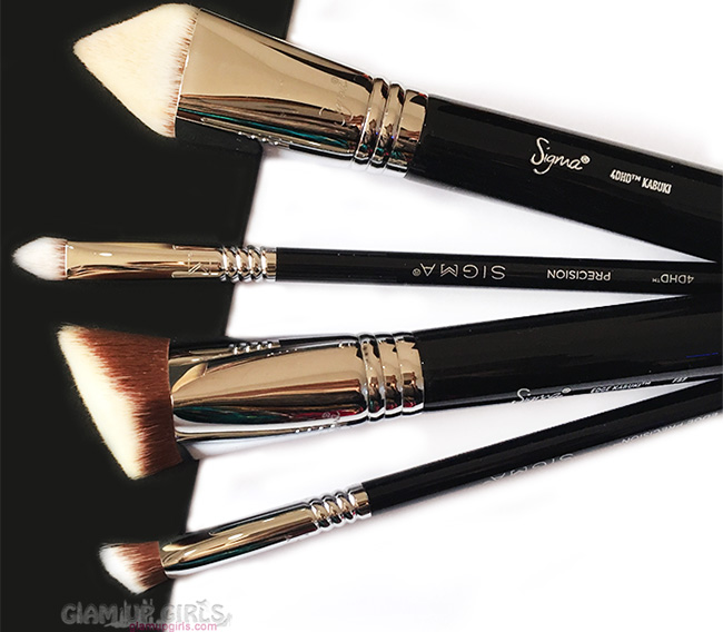 Sigma Dimensional Brushes in 4DHD Kabuki, F87, 4DHD Precision and P87 Edge Precision