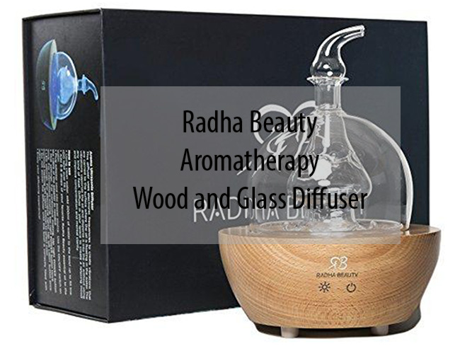Radha Beauty Aromatherapy Wood and Glass Diffuser