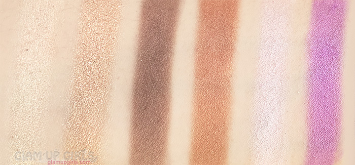 Sigma Beauty Nightlife Eyeshadow by Camila Coelho, first row swatches