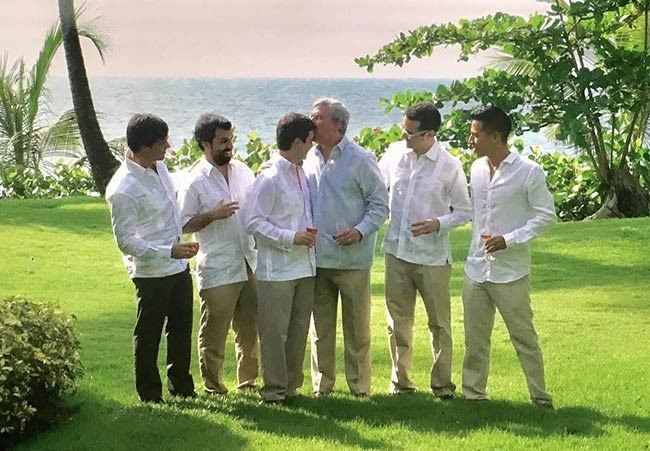 Linen shirts for groomsmen