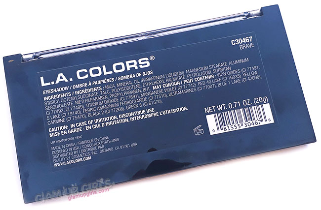 L.A. Colors Sweet! 16 Color Eyeshadow Palette in Brave Ingredients