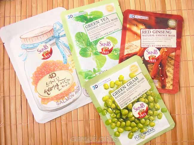 Foodaholic 3D and 4D Essence Masks from Skin18 - Review