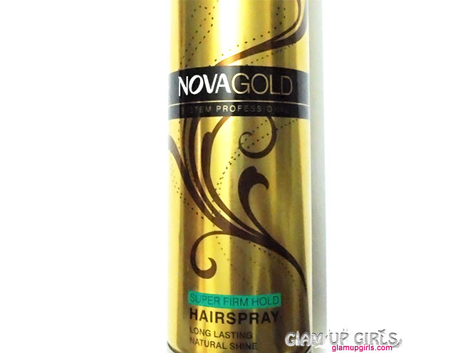 Nova Gold Super Firm Hold Hair Spray - Review