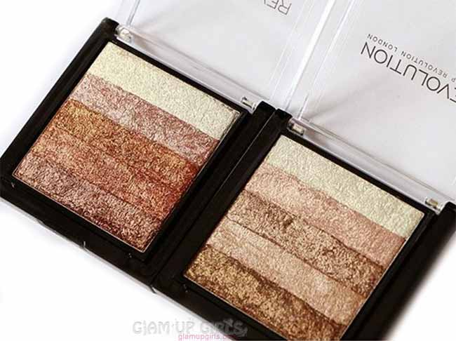 Makeup Revolution Vivid Shimmer Brick in Rose Gold and Radiant