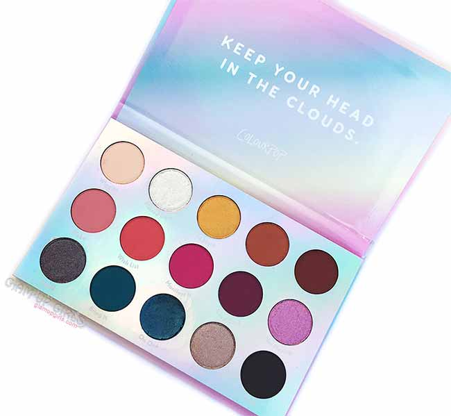 ColourPop Chasing Rainbows Pressed Powder Shadow Palette, Review and Swatches