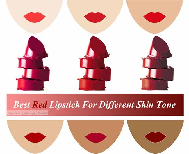 Best Red Lipstick for Different skin Tone
