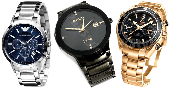 Chain wrist watches for men