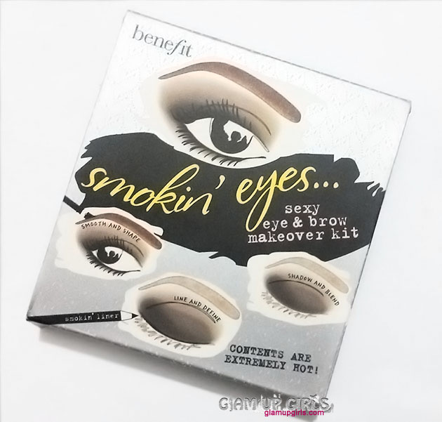 Benefit Smokin Eyes Eyeshadow kit EOTD - Review and Swatches