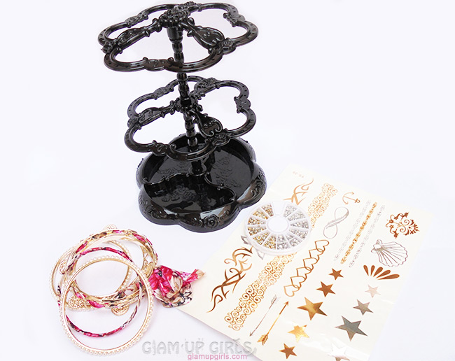 Jewelry Organizer, Nail Rhinestone, Temporary Tattoo and Bracelet Set from Born Pretty Store