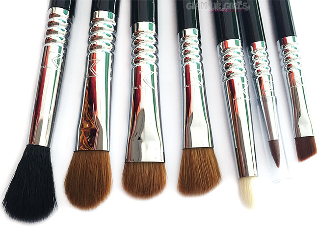 Brushes included in Sigma Beauty Basic Eyes Brush Kit
