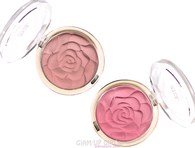 Milani Rose Powder Blush in Romantic Rose and Tea rose - Review and Swatches