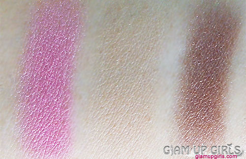 Sleek Makeup Mineral Earth shimmery and Cappuccino matte eyeshadow and Mirrored Pink blusher