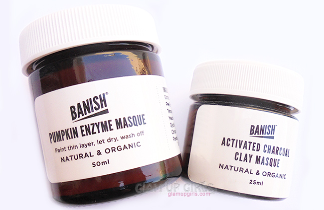Banish Pumpkin Enzyme Mask and Activated Charcoal Clay Mask
