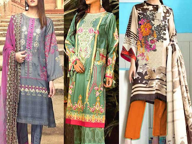 Khaddar and linen collection 2019