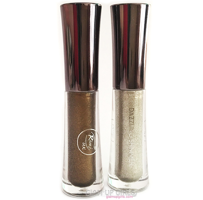 Rivaj UK Dazzling Shimmer Liquid Eyeshadow in Silver and Bronze