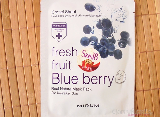 Mirum Fresh Fruit Blue Berry Real Natural Mask Pack from Skin18