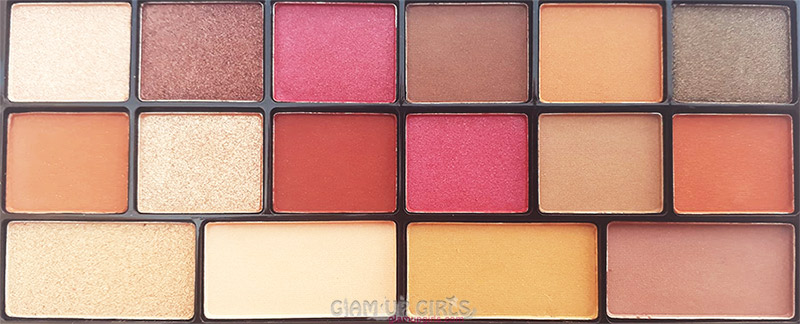 L.A. Colors Sweet! 16 Color Eyeshadow Palette in Brave Close up