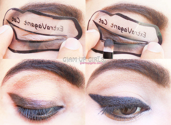 image relating to Eyeliner Stencil Printable identify Eyeliner Stencils for Cat Eyes and Smokey Eyes as a result of