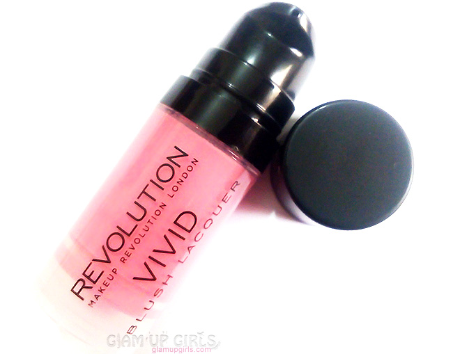 Makeup Revolution Vivid Blush Lacquer in Rush - Review and Swatches