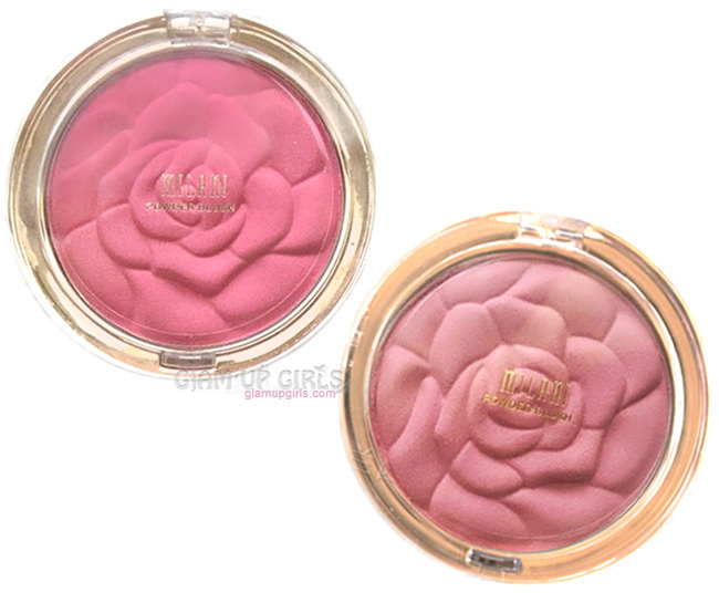 Milani Rose Powder Blush in Romantic Rose and Tea rose